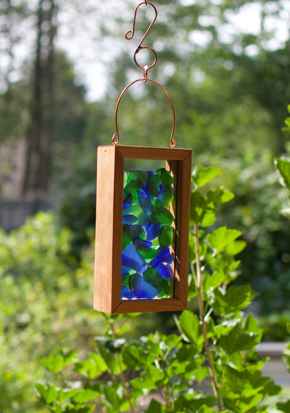 Suncatcher Sea Glass Blue Green Kaleidoscope