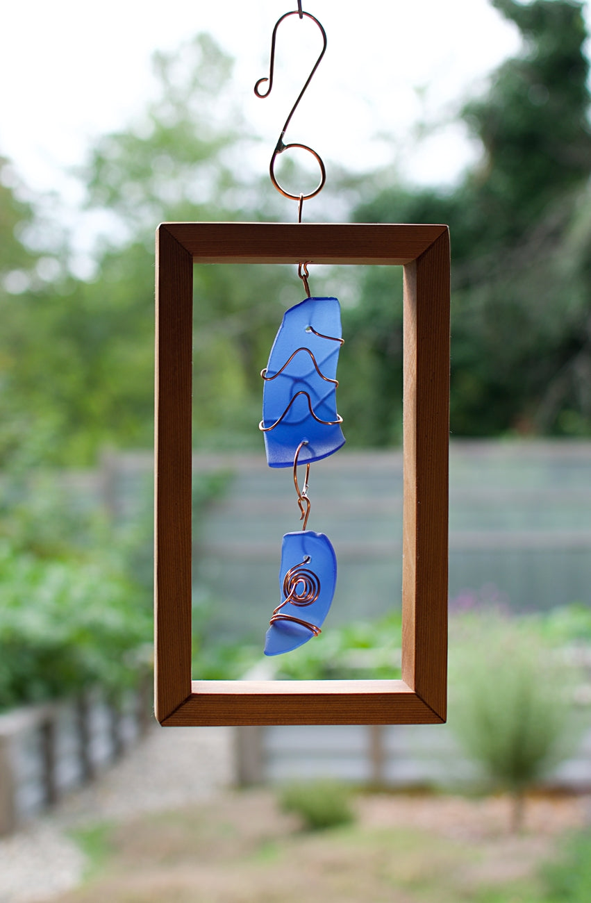 Sun Catcher Cobalt Blue Glass Copper Cedar Suncatcher