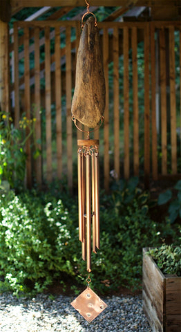 Windchime Natural Pacific Driftwood Large Copper Chimes Wind Chime - Coast Chimes - 2