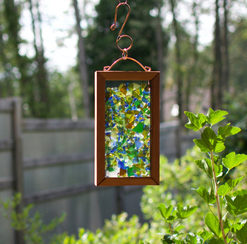 Suncatcher Beach Glass Cedar Copper Sun Catcher