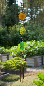 Windchime Sea Glass Copper Outdoor Wind Chime