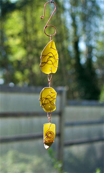 Sun Catcher Sea Glass Copper Suncatcher - Coast Chimes - 1