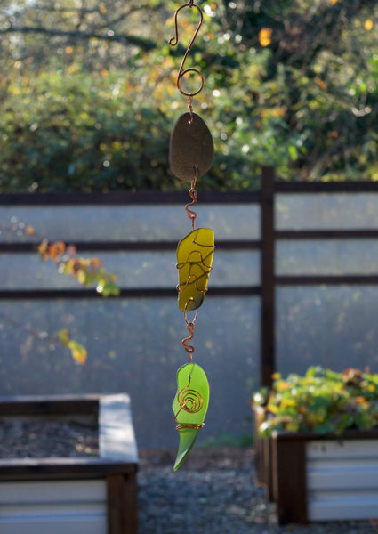 Suncatcher Sea Glass Beach Stone Indoor Outdoor - Coast Chimes - 1