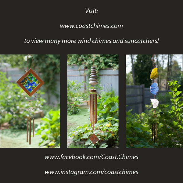 Wind Chime Zen Beach Stone Outdoor Windchimes