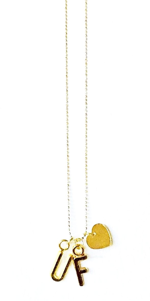 UF Gold Heart Necklace