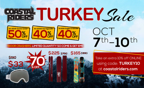 Coastal Riders Turkey Day Garage Sale!