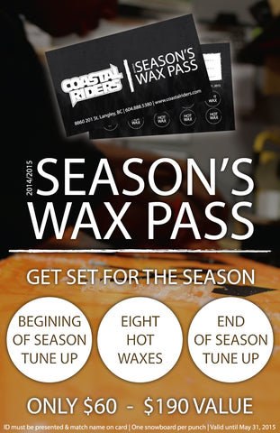 Coastal Riders Season Wax Pass