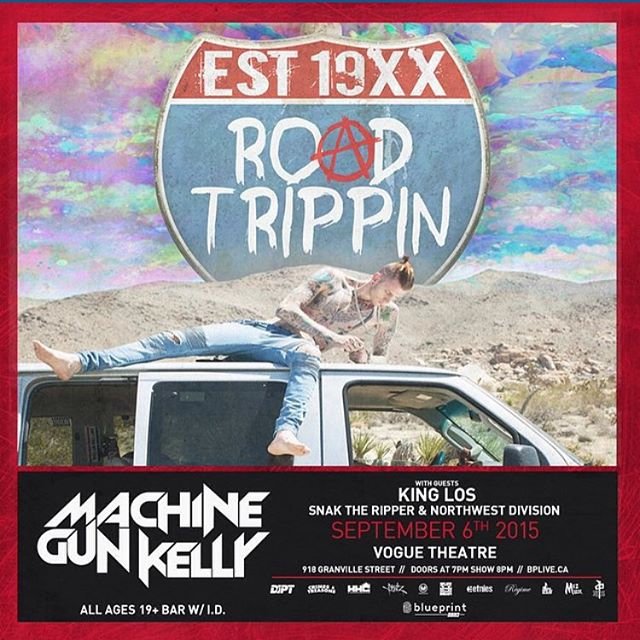Enter to win two tickets to see #MachineGunKelly. Repost this photo, tag @the_repper and a friend you want to take and use the #blueprintlive. Winner will be chosen on sept 6th.