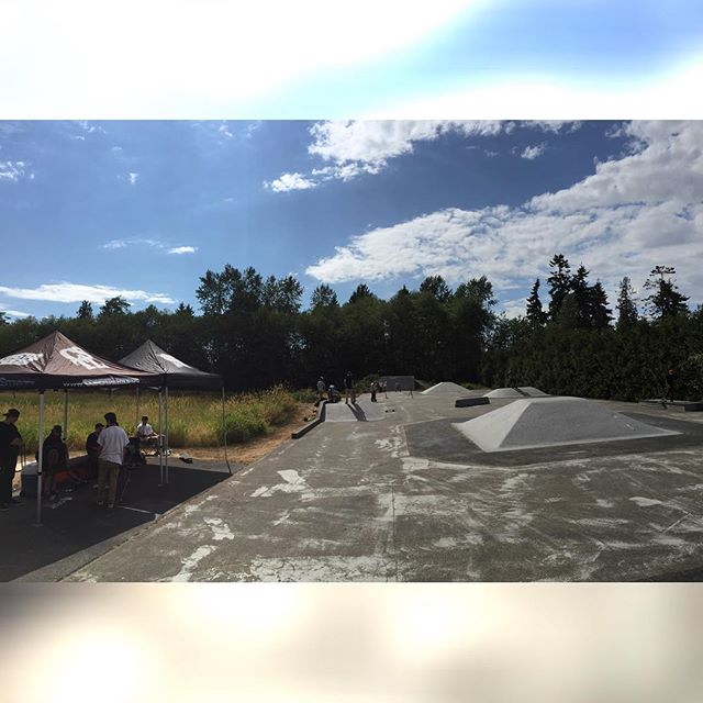 All set up at old Langley skatepark with lots of free prizes from @centredist @vanscanada and @miamihighco. #CstlHangTime #CoastalRiders