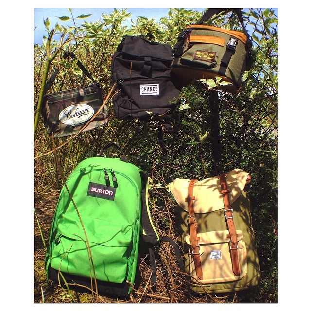 Go places with beers. These bags will handle any of your day trips. @burtonsnowboard @chanceskateboards @bohnam @herschelsupply #DSSS #CSTLspring #adventure #BeerTime