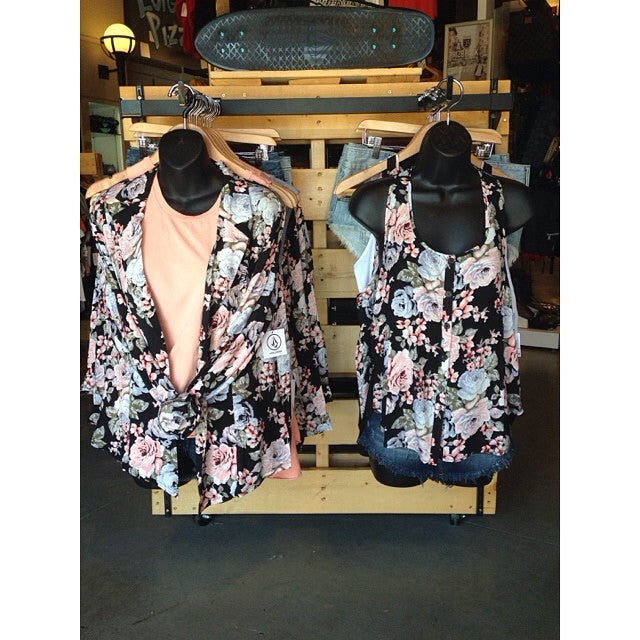 Flower power in blazer and tank form ️ This is why we get so excited about new arrivals... #cstlladies #flowerpower