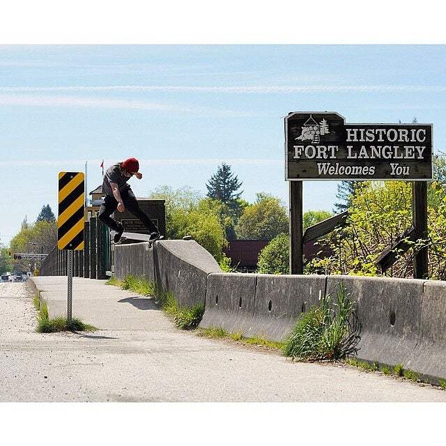 Andrew Classon aka @dehype welcomes you to Fort Langley. Shot by @antoshcimoszko. Regram from @redstarskateboards.