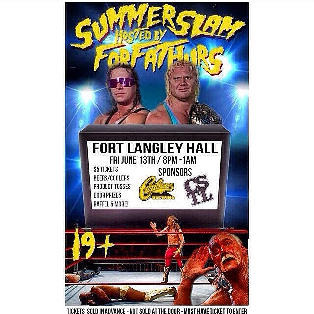 The @forfathurs #SummerSlam is coming up quick. Tickets are only $5 and you can buy them at the shop. 19+. Also sponsored by @cariboobrewing. Don't miss out.