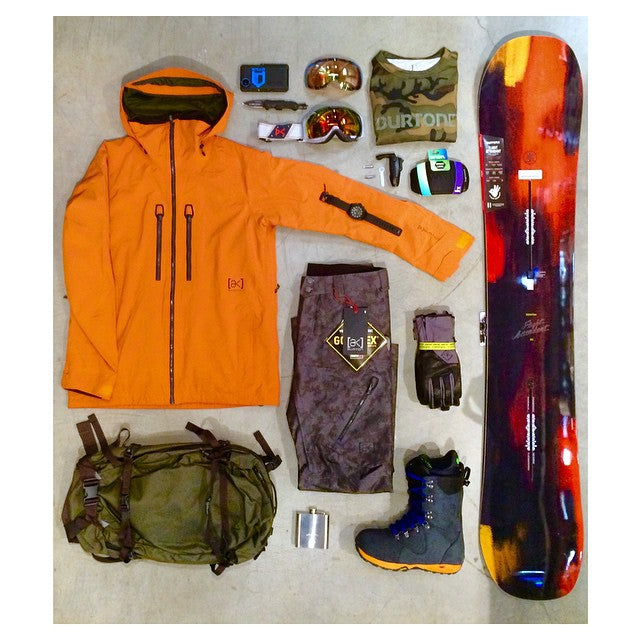 It's getting cold out there, we can get you hooked up with @burtonsnowboards elite AK backcountry gear. #burton #flightAttendant #anon @hitcase @nixon_now #winter2015