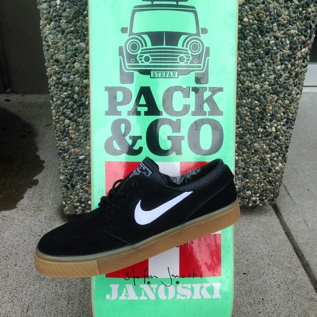 get decked out in Stefan Janoski pro @habitatskateboards deck and @nikesb shoe. ride like @slj1000 himself