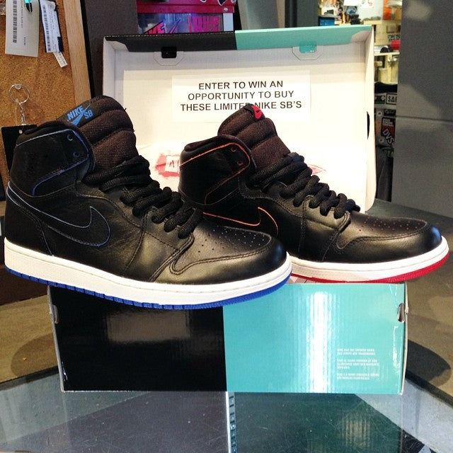 Enter to win an opportunity to buy these limited @nikesb Air Jordan 1 Shoes!! We close the ballot today at 5pm so get in here soon to enter #goodluck
