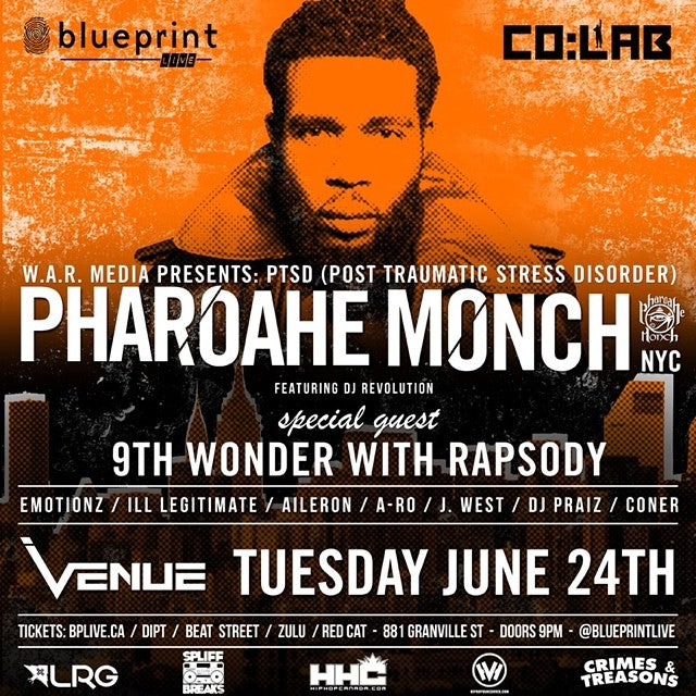 Want to win 2 tickets to see #PharoaheMonch Live on Tuesday June 24th? Just regram this photo with the hashtag #cstlpharoahe and tag @blueprintevents Winner will be drawn on Monday afternoon. #simonsays #blueprintlive
