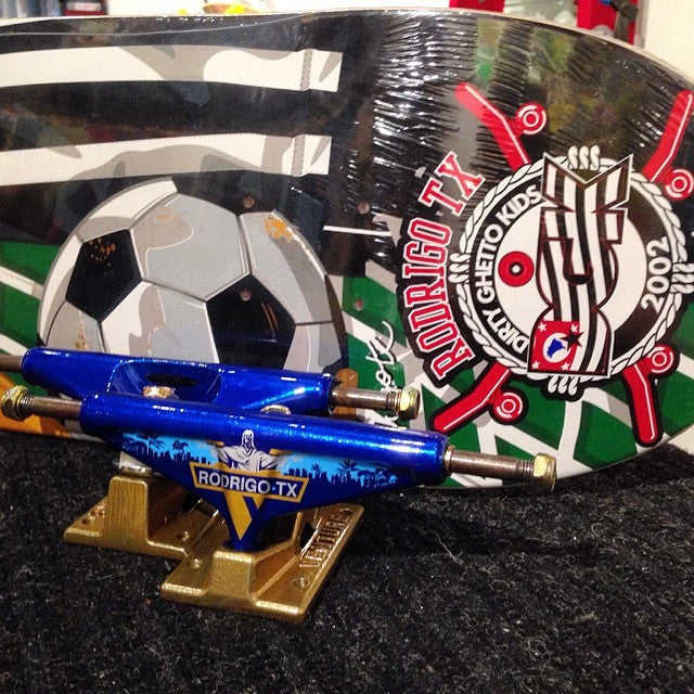 world cups going strong! cop these #brasil inspired @rodrigotx pro model @venturetrucks and @dgk deck #worldcup #fifa2014