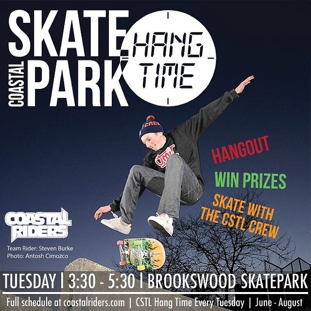 Come hang out with the #CoastalRiders Crew tomorrow at #Brookswood Skatepark. 3:30 - 5:30. Hang out. Win prizes. Skate with the #CoastalCrew. See you then! Team rider @yzeebs photo by @antoshcimoszko