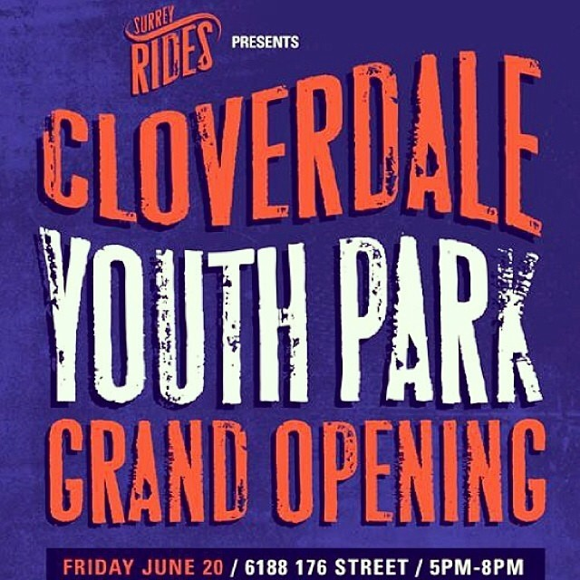 Today we will be at the #CloverdaleSkatePark for the grand opening event. 5-8pm. Prizes Demos and a BBQ. We heard even the Mayor is going to be there. #CLVDREPORT