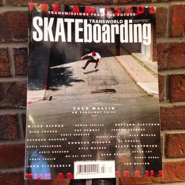 July issue of @transworldskate in shop today. come grab a #free copy. good reads for a rainy day.