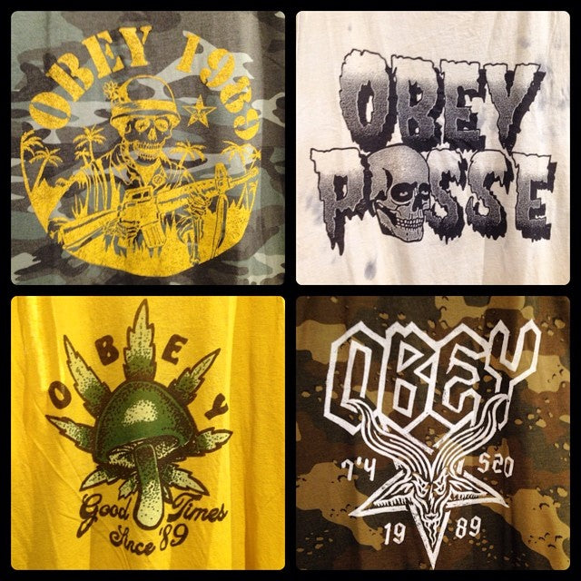 come get some fresh @obeygiant gear. rainy days call for shopping #obeyclothing #obey