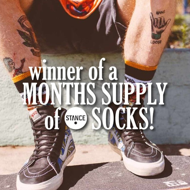 Shout out to Austin Schultz, winner of a months supply of @stancesocks, that's 30 pairs of the best socks, for free! There's a @thereddragons BMX bike up for grabs if you want to win something. Enter when you spend $150 at the shop now!