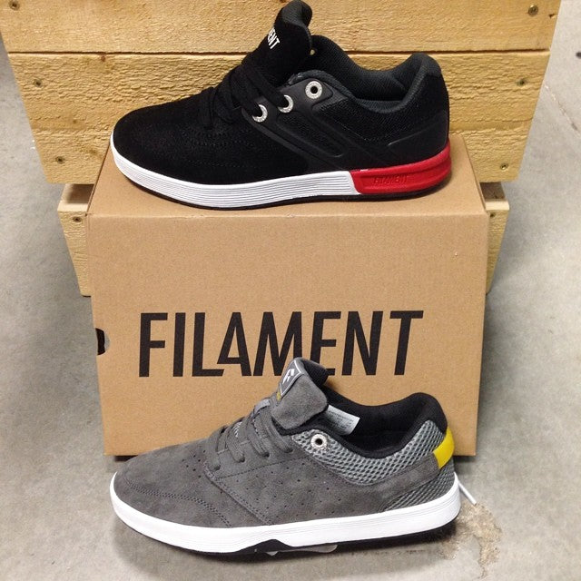 new brand in shop! @filament_brand shoes hit the floor yesterday. you won't believe how comfy these are. $114.99 for the black #shadow and $94.99 for the grey #ryatt. @caseyjonesagency
