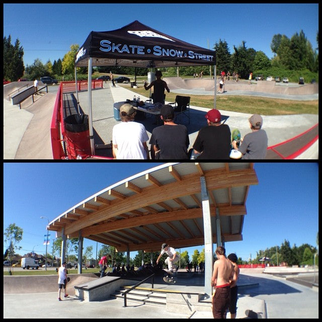 cloverdale jam going on now! come hang with the team and win stuff from @dgk @habitatskateboards @expeditionone and @goldwheels