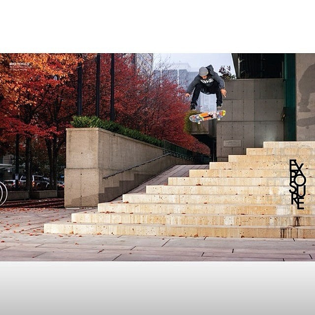 Mike Schulze aka @hailskat1n gets down with a big Nollie heel in the new @concreteskatemag. YEWWWWW Mikey! @ultimatedist @mehrathon @deathwishskateboards @destructotrucks @vanscanada @jslv @boneswheels