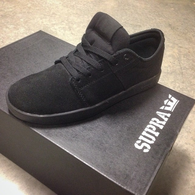 @suprafootwear stacks II on for $45!! tons of sizes available. #blackonblack #stacks