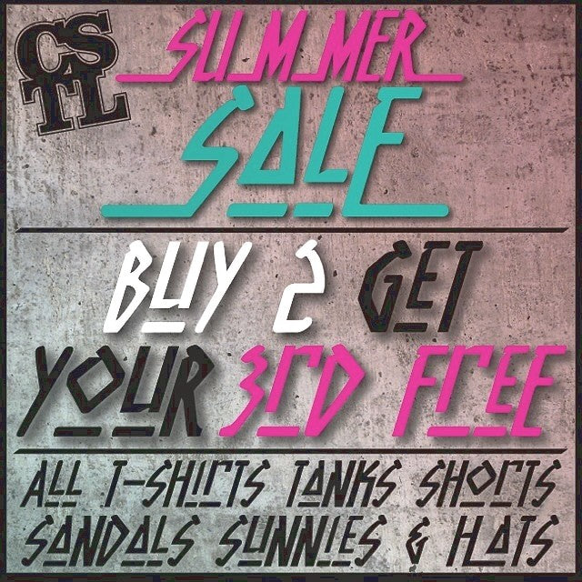 our summer sale is going on now! buy 2 get your 3rd for free! that's right we said free. on all summer gear. #free #summer