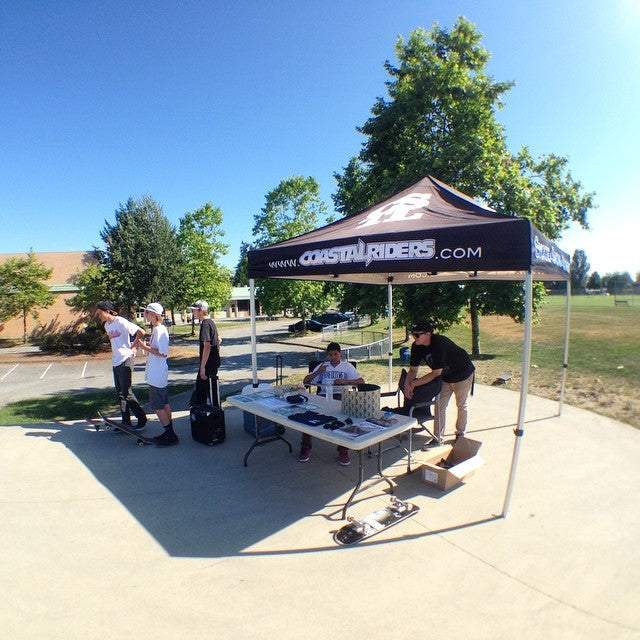 #cstlhangtime going on now at maple ridge park. come chill under the tent and cop some goods from @coastalriders @filament_brand @skullcandy @kr3wdenim
