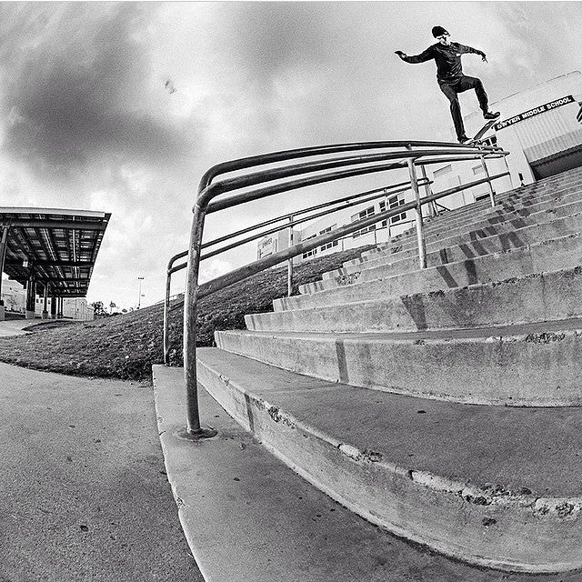 #regram from @briancaissie. @fuckimsorry takes the high road and Krooks through this ankle breaker. #skateboarding #MikeyRay #CoastalRiders #CSTL
