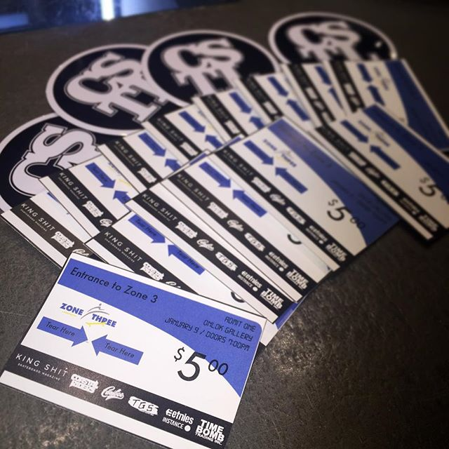 Still have some @zone3_video tickets left at the shop, come by and grab one $5 cash only