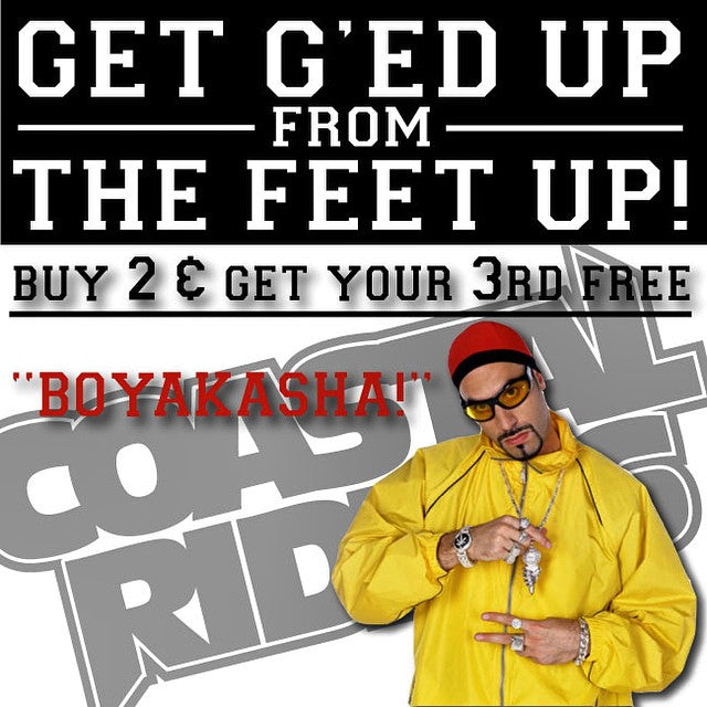 #boyakash. Going back to School got you down? Get G'ed Up From The Feet Up. Buy any three shoes shorts pants tanks shirts hoodies hats and sandals and get your least expensive item free. See in store for details. #respect #peace #backtoschool #cstlAliG