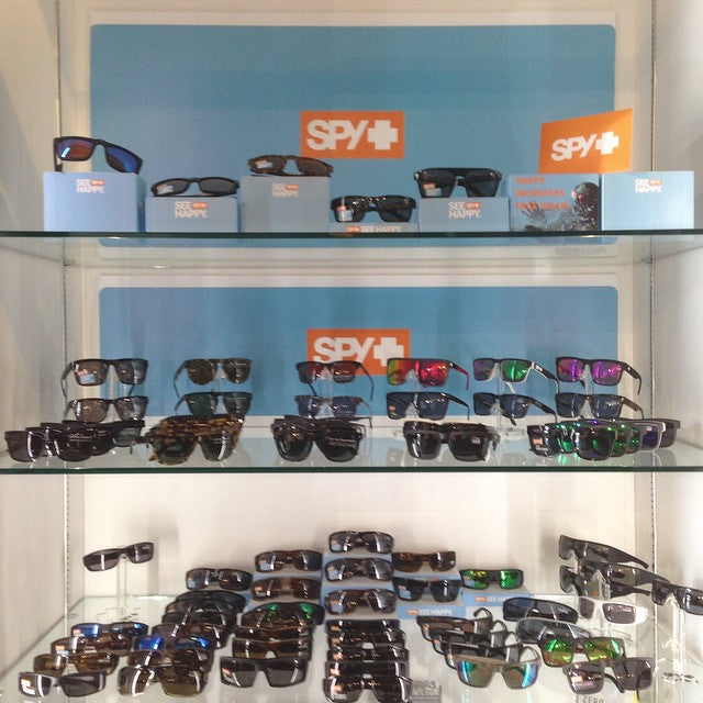all our @spyoptic sunglasses are 20% off this weekend!! come grab a pair for cheap #seehappy #happylens