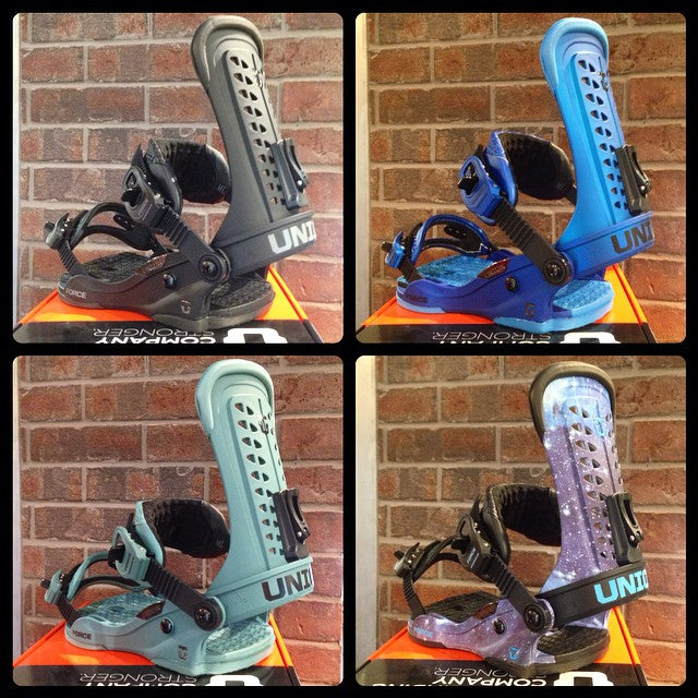 the legendary @unionbindingco #force 2015 model just dropped. come grab one of the best bindings in the game. #supportlocal #snowboarding