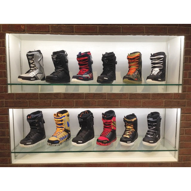 shelves are stocked with 2015 @thirtytwo boots!! we've got all you could need. the #86. the @joesexton1817 #maven. the #lashed. the #TM-2. the #session. the #focusboa. and the #ultralight2. from $209.99 and up. #winter #supportlocal @timebombtrading