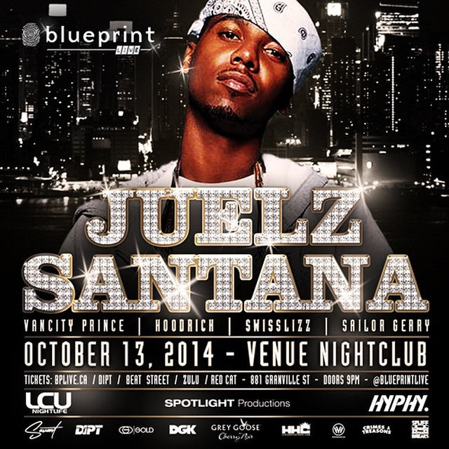 #Dipset Juelz Santana is coming to Vancouver. Sunday Oct 13th. Venue night club. @blueprintlive #blueprintlive. Tickets still available.
