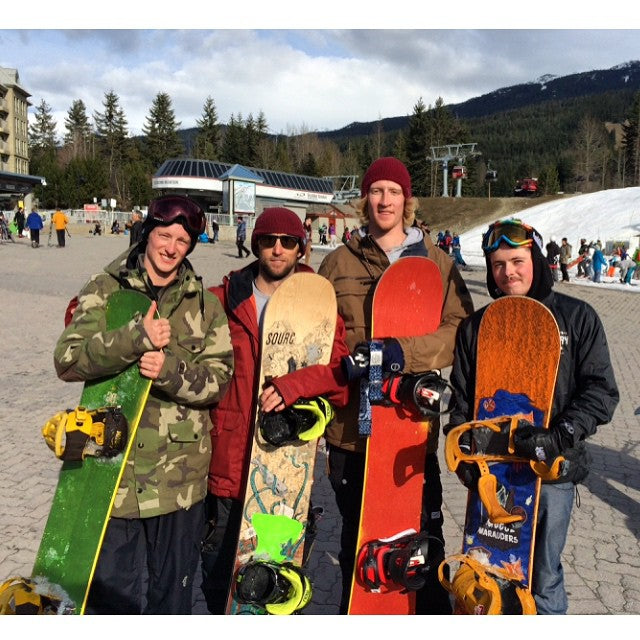 The boys had a good day shredding with #TheBoss @devwalsh up @whistlerblackcomb today. Thanks @dc_snowboarding. #CoastalRiders #CSTL #whistlerblackcomb