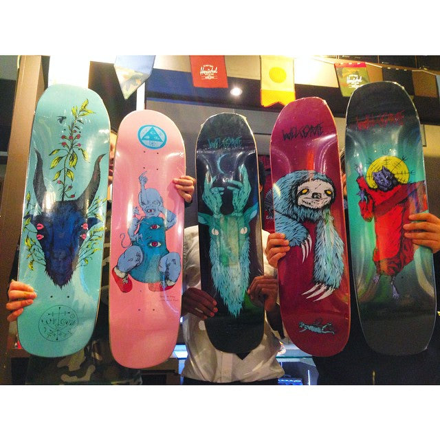 Just in time for #halloween. New @welcomeskateboards. Get yo creepy skate on. #welcomeskateboards @grandtrading