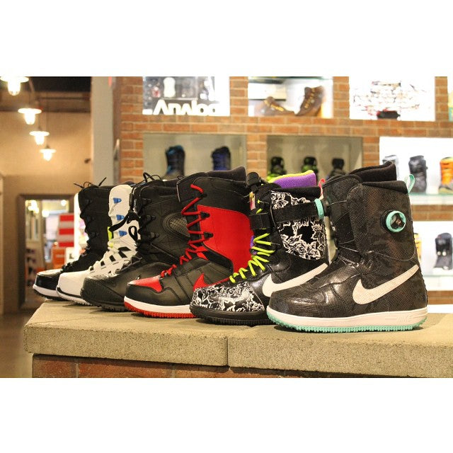 2015 @nikesnowboarding boots now in shop! it's nikes last year in snowboarding so grab a pair before there gone! #kaiju #zoomforce1 #vapen