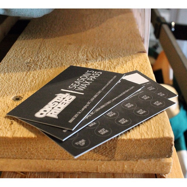 Pick up a Season's Wax Pass at #CSTL for the upcoming season. Includes 2 tuneups & 8 hot waxes. Incredible value only $60 bucks! Take care of your gear #getset #snowscoming #supportlocal