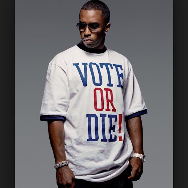 It's municipal Election Day. Diddy says - get out there and vote because it's ultimately the city who builds #skateparks. #voteordie