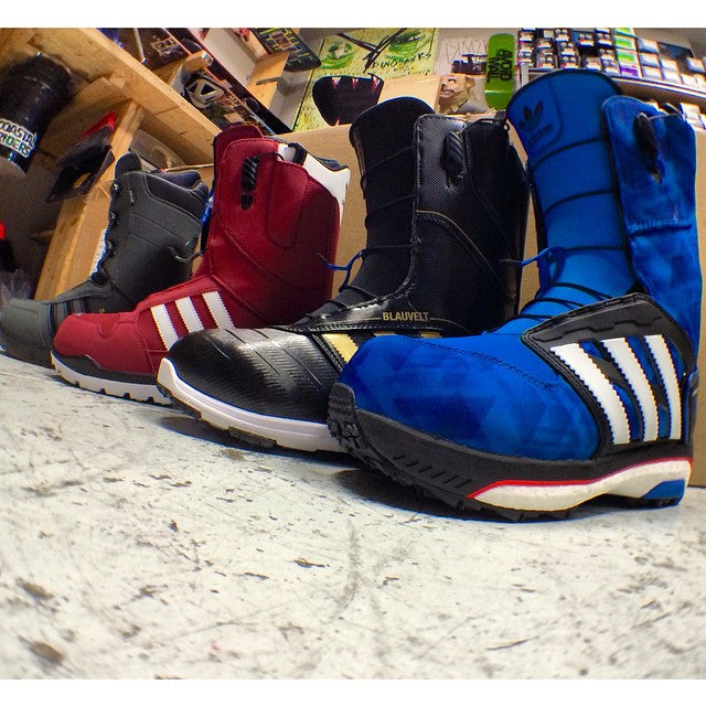 We got the much anticipated @adidassnowboarding boots in. Come try on a pair and see how they fit. #adidas #winter2015 #fresh #snowboarding