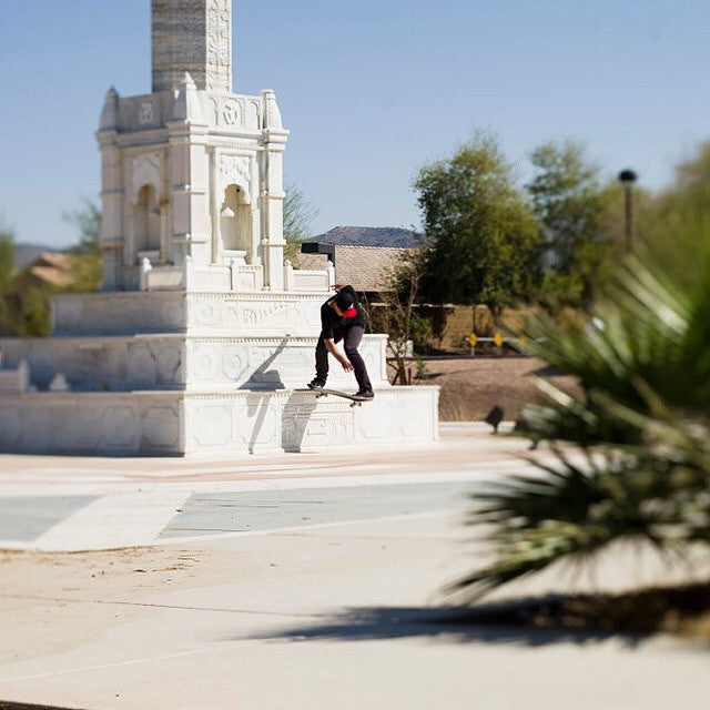 @dustin.locke with a SW bs tail. In #Arizona on a @cariboobrewing trip. #cstl #CoastalRiders #skateboarding