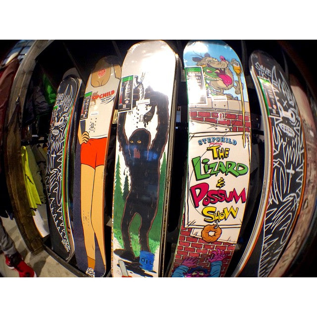 We got a handful of the 2015 @stepchildsnowboards in, come check them out! #CSTLwinter