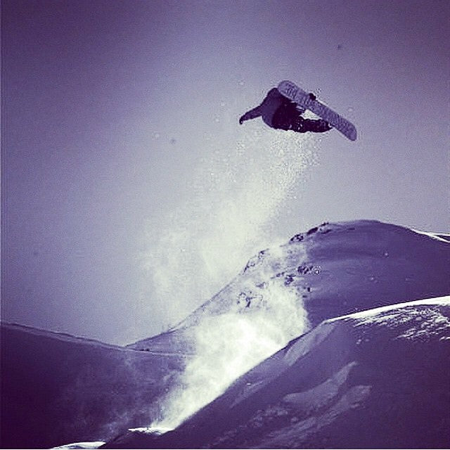 @koriath101 takes flight. Soul stealer @bradheppnerphoto. #winteriscoming #letitsnow #snowboarding #CoastalRiders