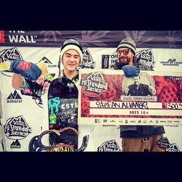 Shout out to Yung @t_a_c_0 who came up on $300 bucks at the @vanscanada #HighStandard contest out in Alberta. Congrats Taco! @salmonarms @dinosaurs_will_die @fluxbindings #CoastalRiders #CSTLwinter #cstl